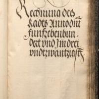 Ratsrechnung 1523